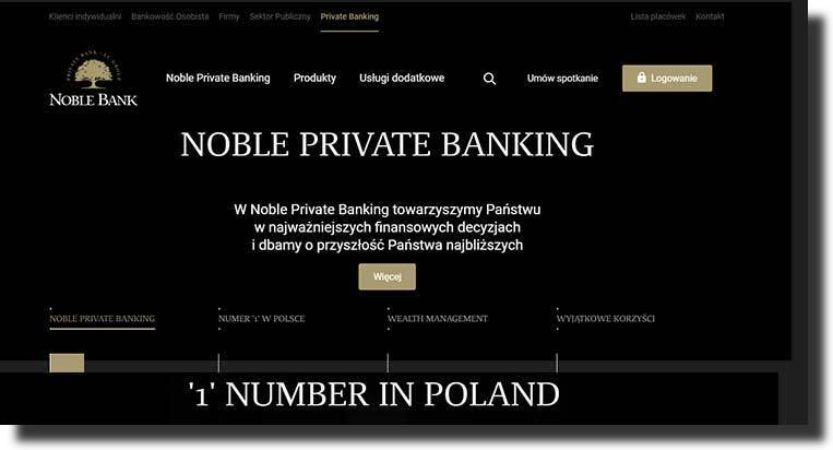 The Nobel Bank website design