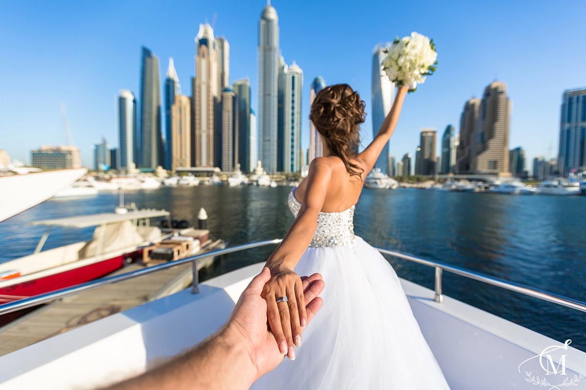 wedding photo on yacht