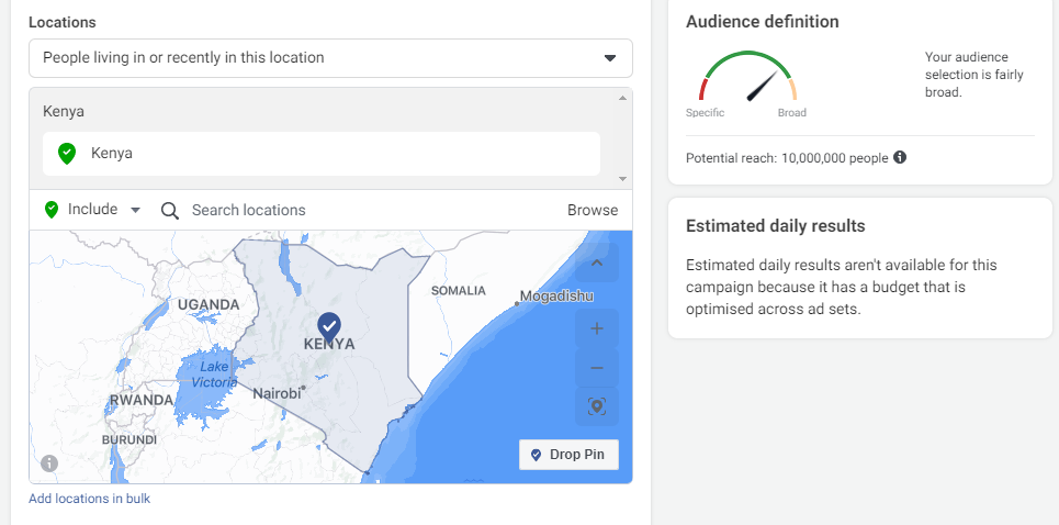 targeting based on location