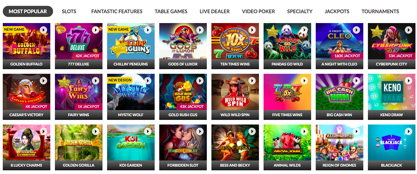 Slots.lv Casino Games