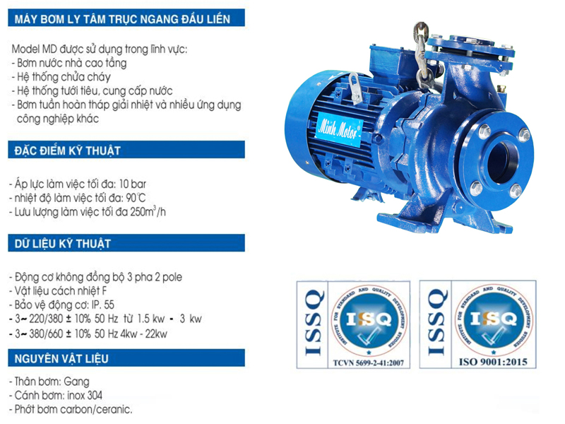Minhmotor – Cung cấp máy bơm nước ly tâm chính hãng trên 60 tỉnh thành - Ảnh 3