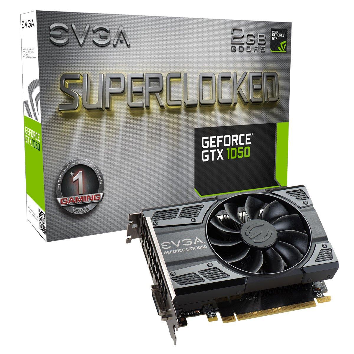 EVGA GeForce GTX 1050 SC Gaming, 2GB GDDR5 Graphics Card