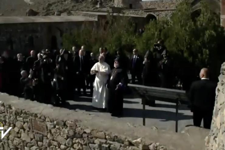 pope francis and karekin II