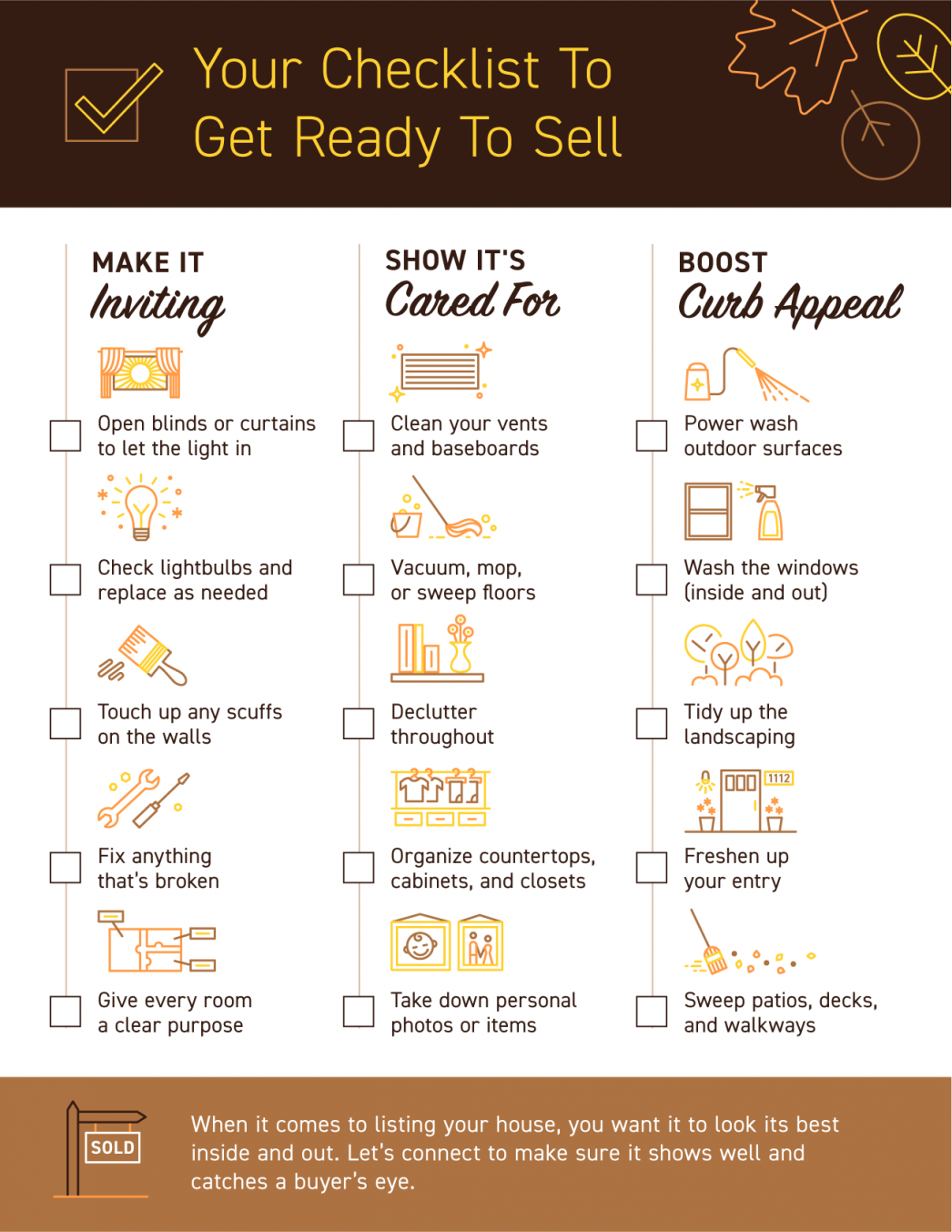 Your Checklist To Get Ready To Sell [INFOGRAPHIC]   MyKCM