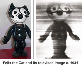 Televised image of Felix the Cat in 1928.