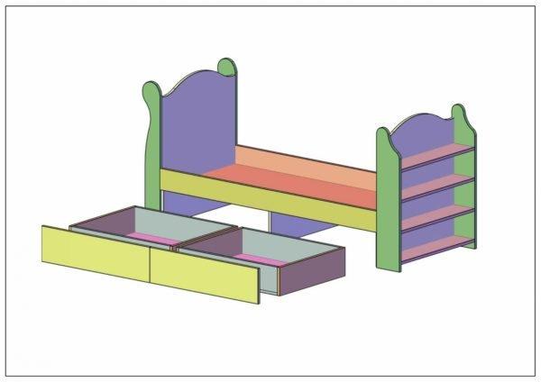 Детская кровать из ЛДСП