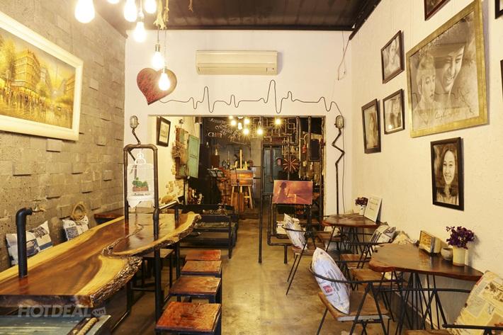 Sơn hiệu ứng Waldo-Bên trong không gian quán Dream Art Coffee