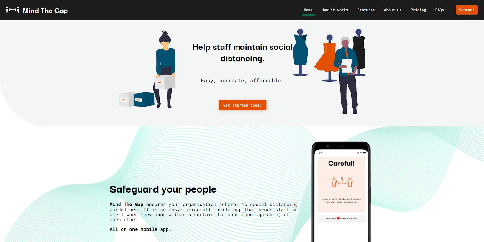 Mind The Gap app website screenshot