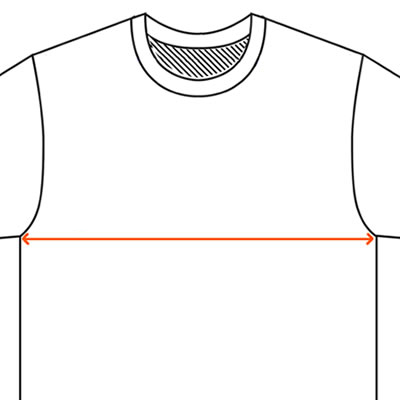How to find a t-shirt chest measurement.