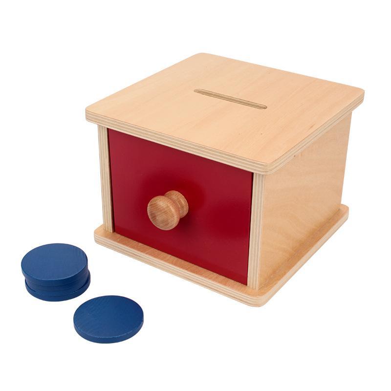 boite à tiroir jeu bois jeton montessori