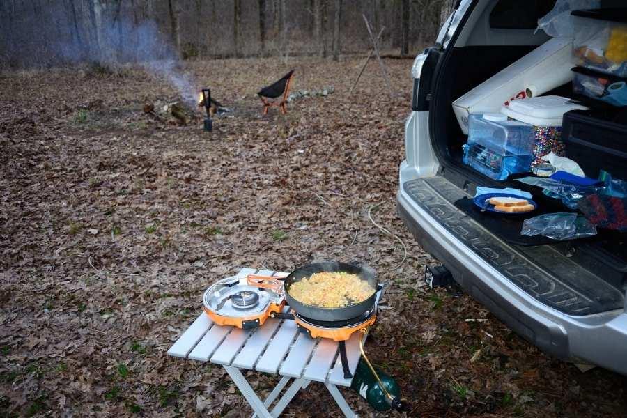 basic overlanding cooking setup