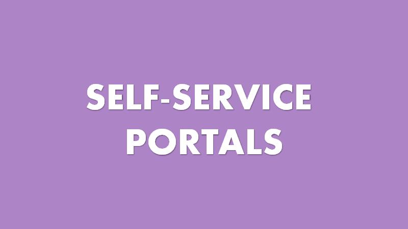 Self service in customer service