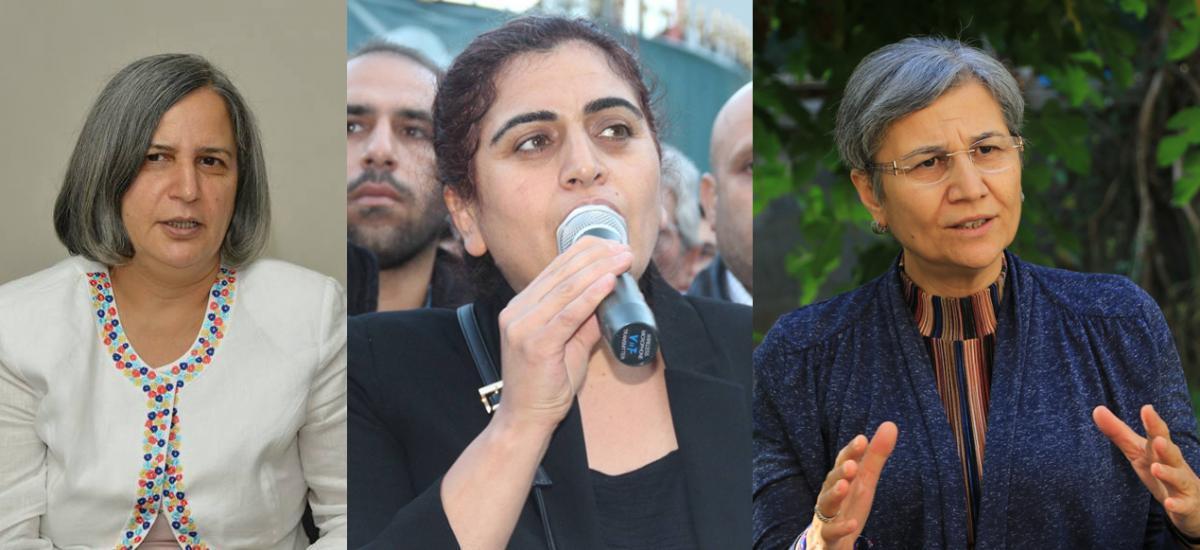 السياسيون الأكراد غولتان كيشاناك وسبحات تونسل وليلى جوفين