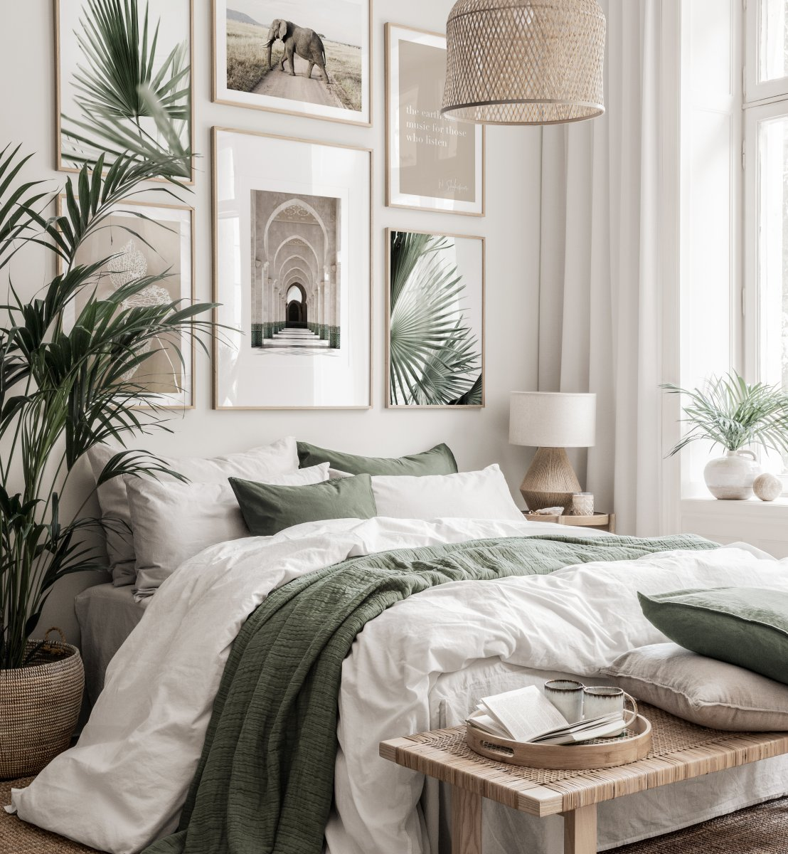 Combine Green and Beige Color