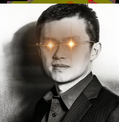 CZ portant les laser eyes Bitcoin