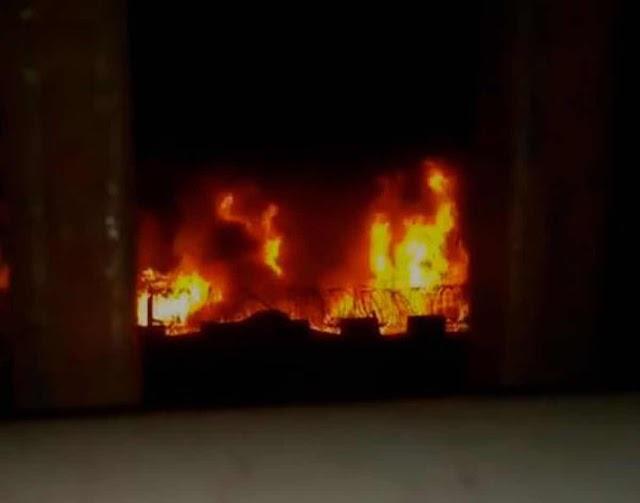 Fuego en la cárcel La Victoria