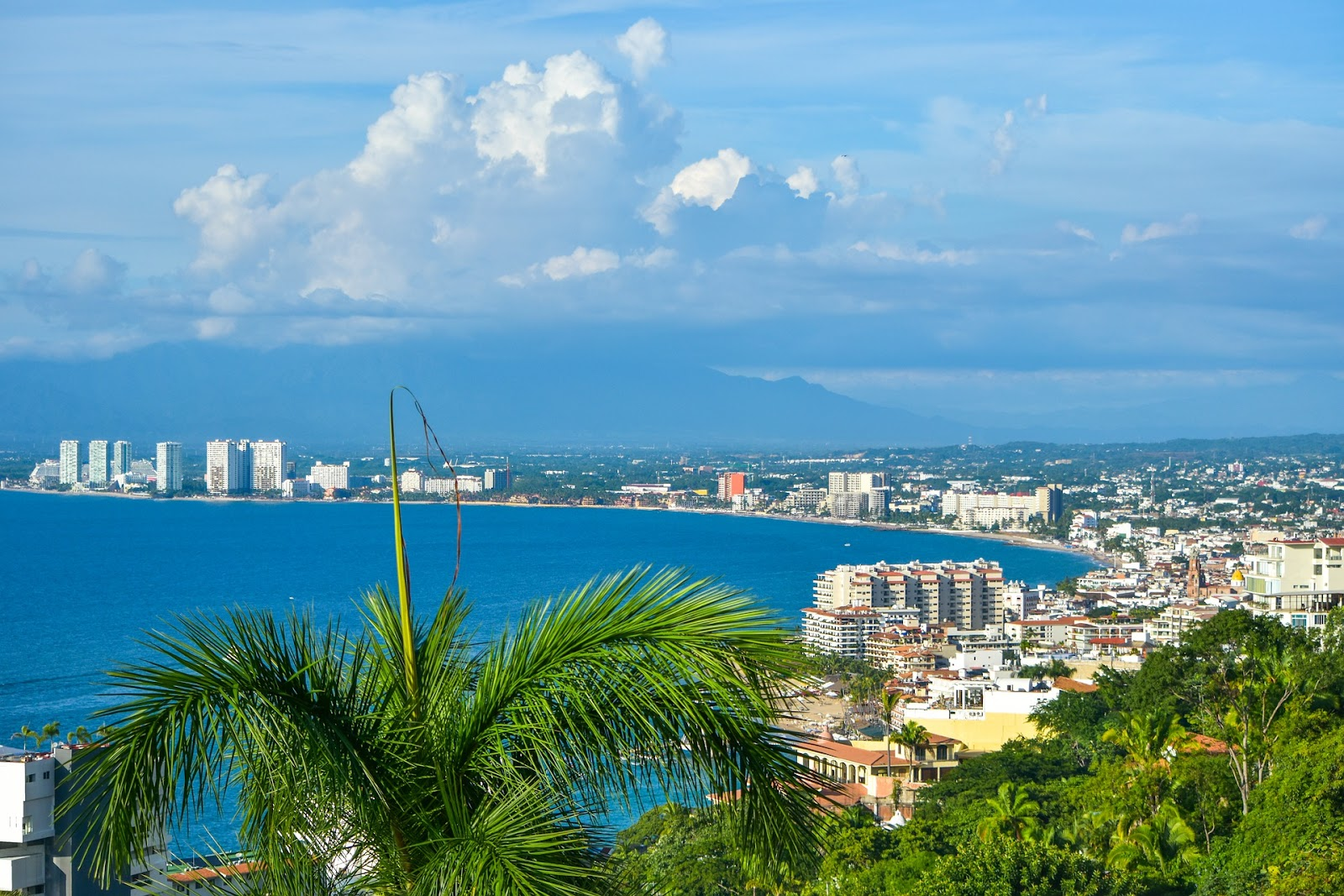 Viewpoint of Puerto Vallarta in Mexico