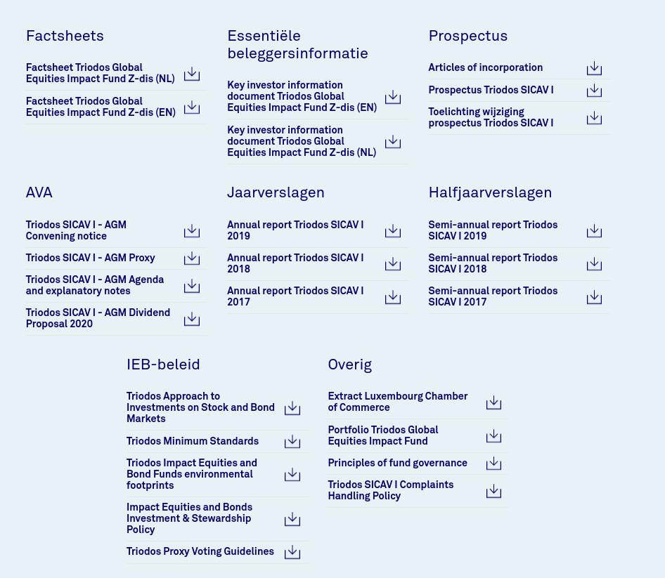 Veel informatie over duurzaam beleggen bij Triodos