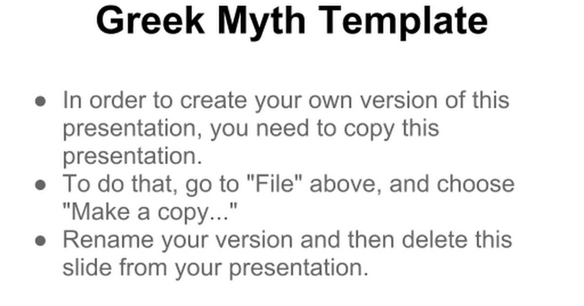 template for greek myth google slides