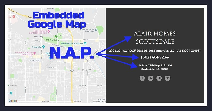 Google Map Embed in Website Footer