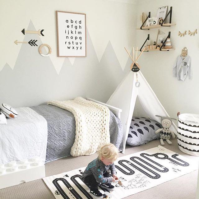 Inspirasi kamar tidur anak dengan konsep netral gender - source: pinterest.com