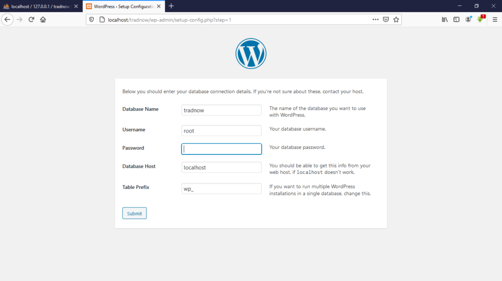 wordpress database infrormation