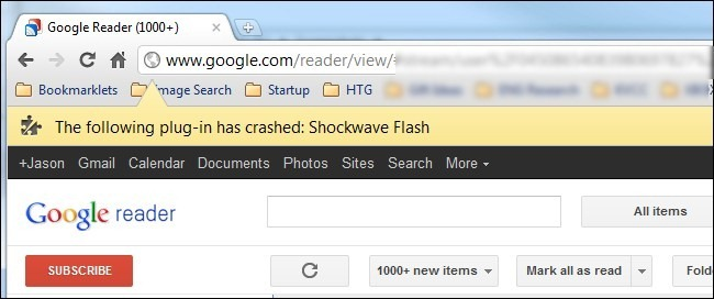 Shockwave Flash Not Responding