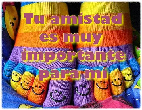 Tu amistad es muy importante para mi.