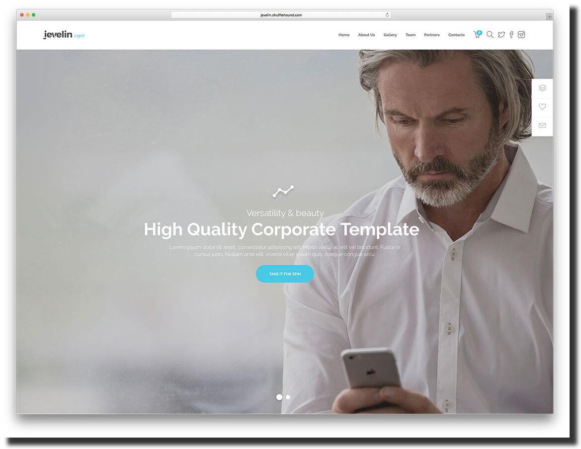 Jevelin multipurpose WordPress template
