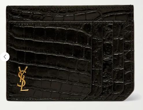 8. กระเป๋าใส่บัตรแบรนด์ SAINT LAURENT
