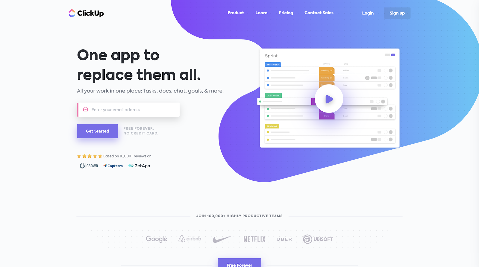 ClickUp - One app to replace them all