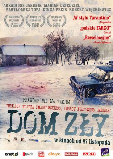 Przód ulotki filmu 'Dom Zły'