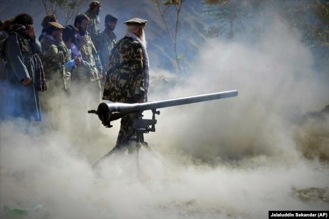 Учения верных Ахмаду Масуду сил. Провинция Панджшер, 30 августа 2021 года