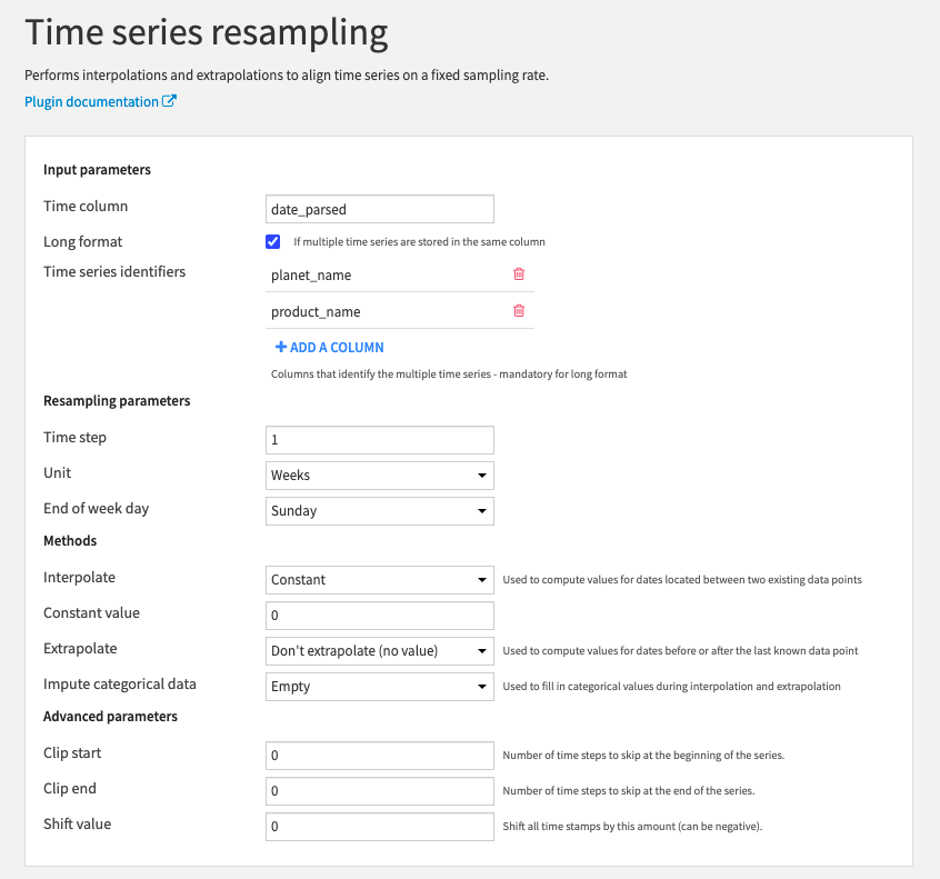 time series resampling