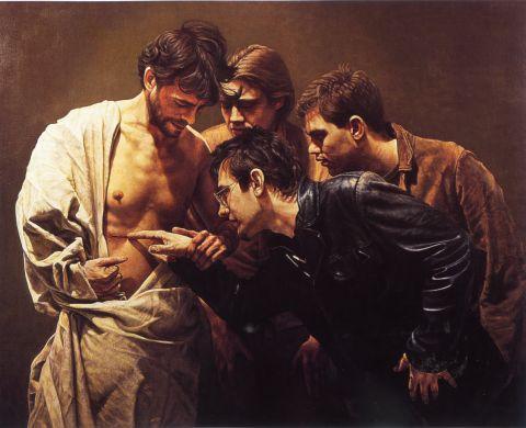 Resultado de imagen de TOMAS TOCANDO LLAGAS DE JESUS