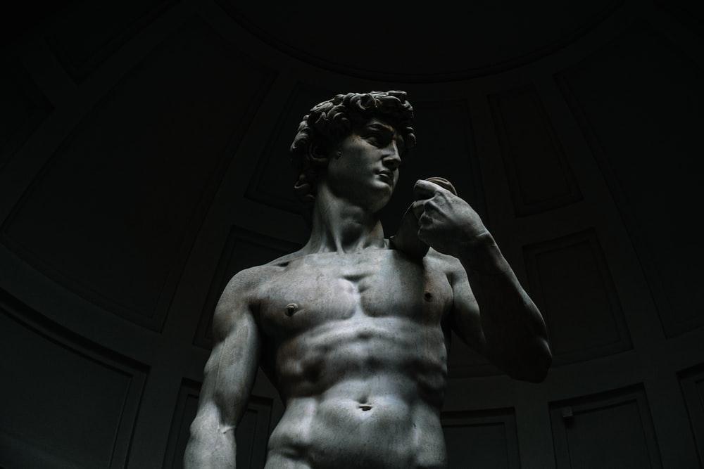 David statue inside building