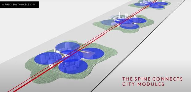 """3 curiosidades sobre """"The Line"""", cidade futurista da Arábia Saudita (Foto: Divulgação)"""