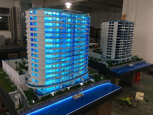 Mô hình xây dựng tòa chung cư