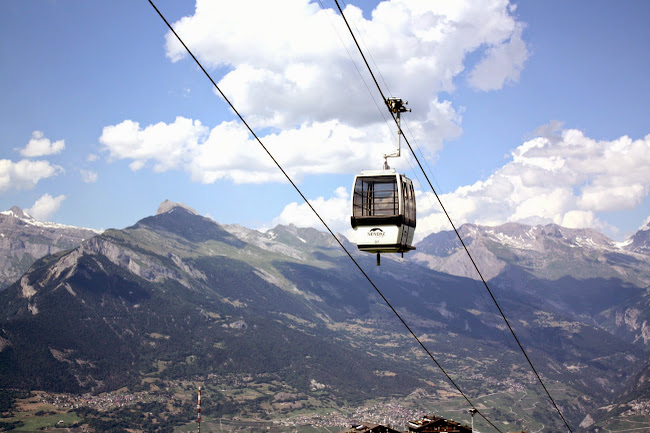 Gondola in the Swiss Alps
