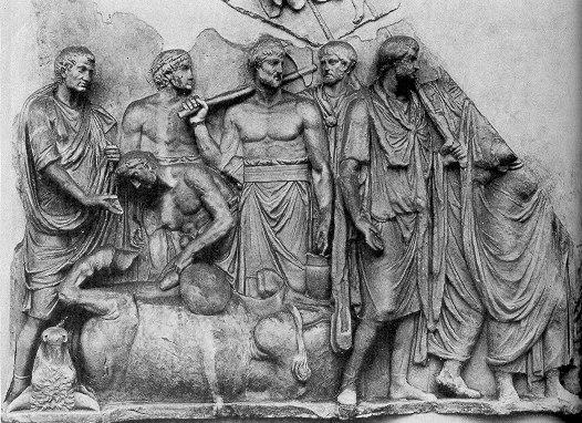 Гадание по внутренностям жертвенных быков в Древнем Риме
