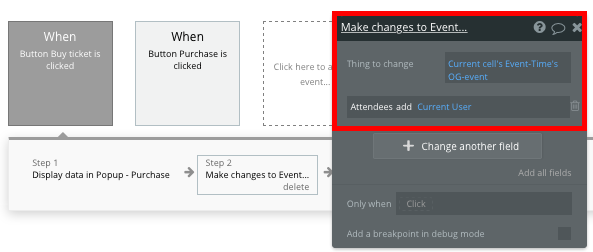 Making changes to a Ticketmaster event data