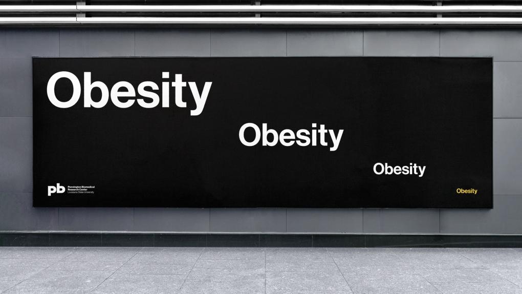 Pennington Biomedical Obesity OOH Billboard
