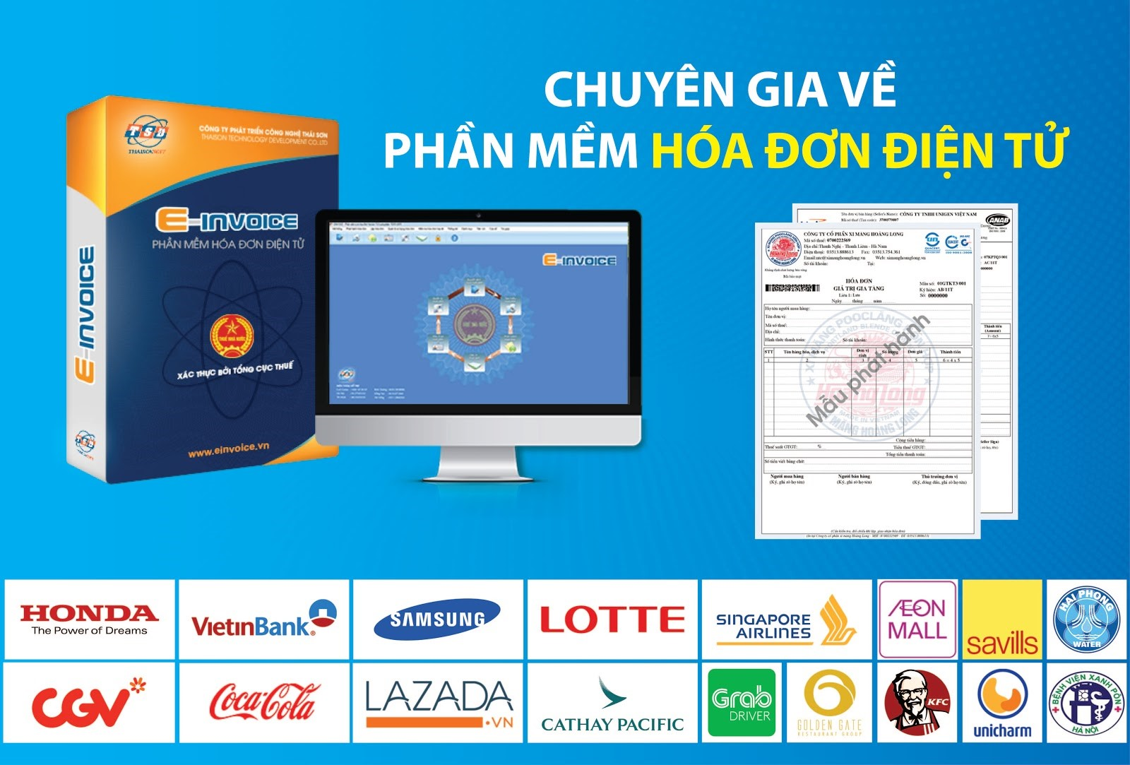 Phần mềm hóa đơn điện tử Einvoice được phát triển bởi Công ty Thái Sơn
