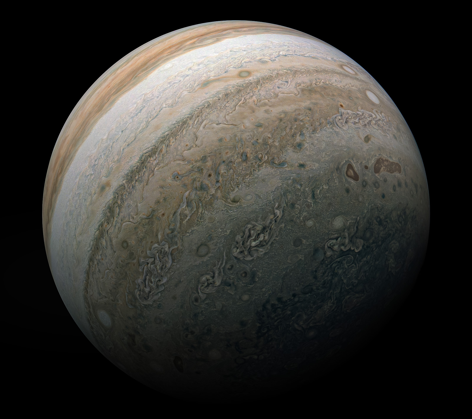 NASA image of Jupiter from the Juno mission