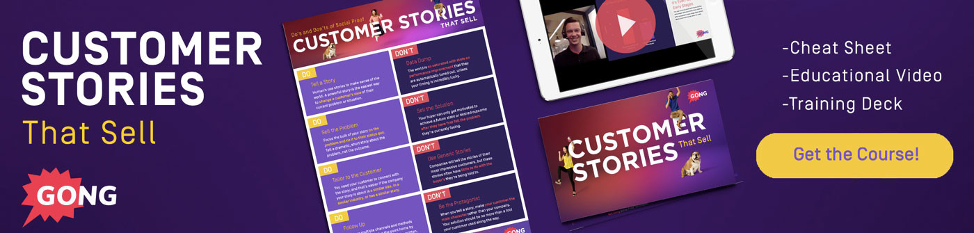 Customer Stories Training Course Banner