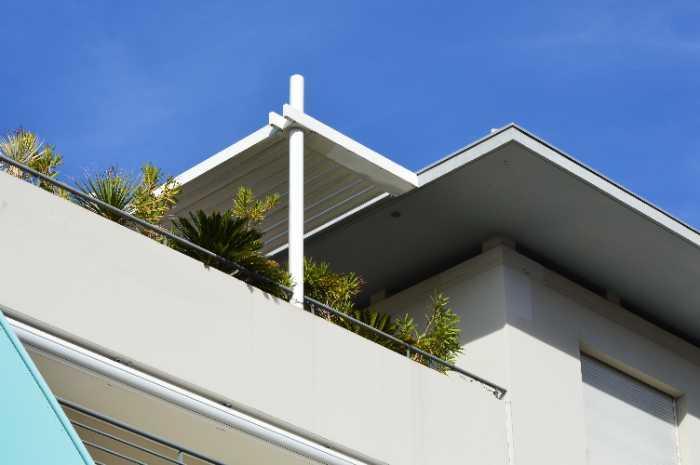 urban rooftop pergola