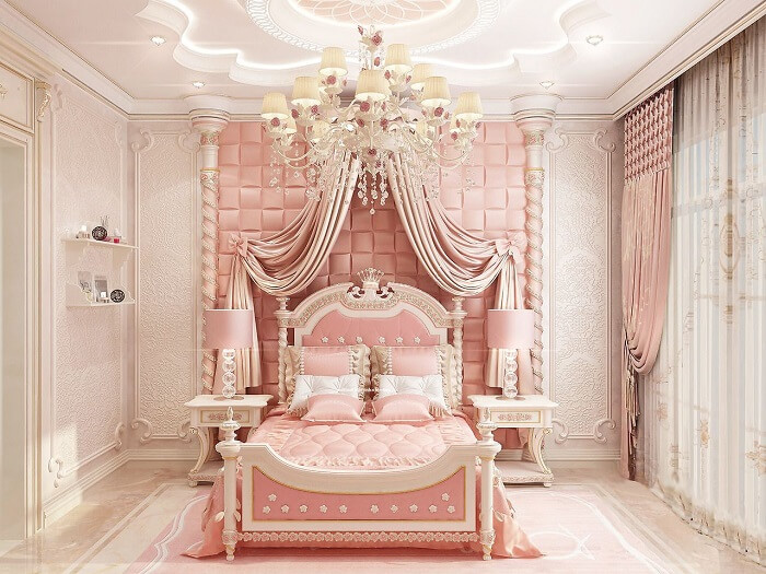 Phòng ngủ công chúa cho bé gái 3