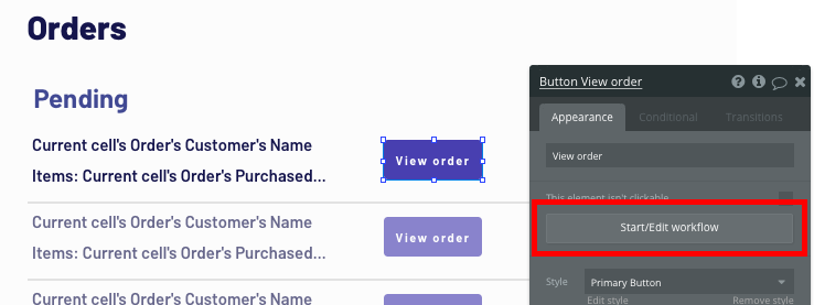 Triggering a Bubble workflow to view a Shopify order