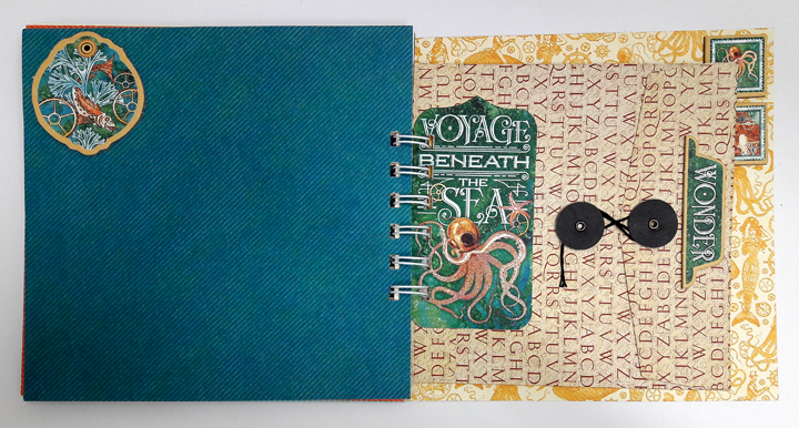 Vacation Notebook, Einat Kessler, Voyage beneath the Sea, product by Graphic 45, photo 1.jpg