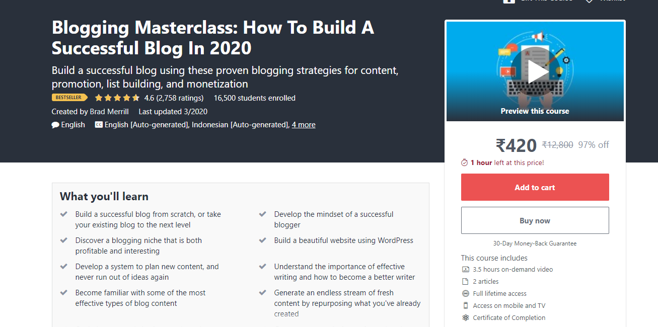 Blogging Masterclass: How To Build A Successful Blog In 2020